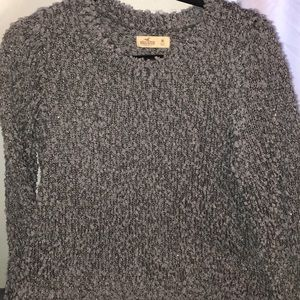 Sparkly gray Hollister sweater